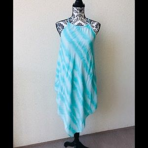 🎈 Design lab turquoise summer dress asymmetric S